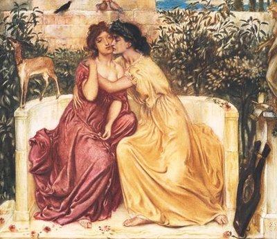 Solomon Sappho and Erinna in a Garden at Mytilene 1864