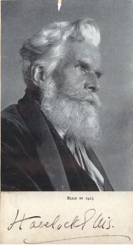 Scientific Identity, Portrait of Havelock Ellis, Original photograph 1923